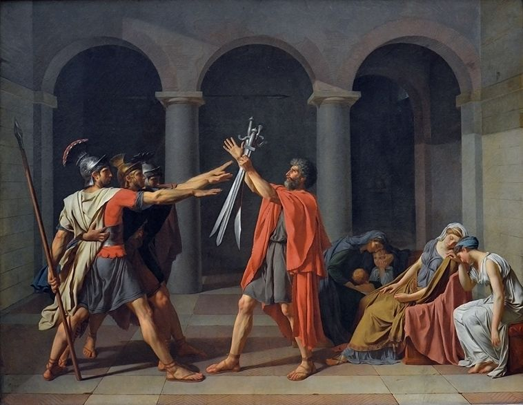 Jacques-Louis David, eed van de Horatii